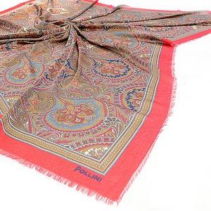 Палантин 067 Pollini Lace Red 90х90 93% Модал 7% Кашемир фото-3