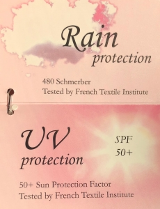 Зонт-трость Chantal Thomass Pagode Lettre Bianco long 868 фото-5