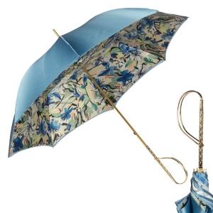 Зонт-трость Pasotti Blu Iris Rapira фото-1