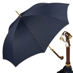 Зонт-трость Pasotti Blu Maple Dots Boxer Lux фото-1