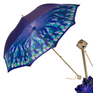 Зонт-трость Pasotti Blu Penna Flat Sfera фото-1