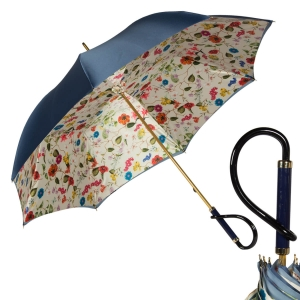 Зонт-трость Pasotti Blu Prato Plastica фото-1