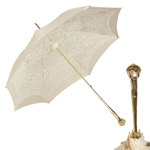 Зонт-трость Pasotti Ivory Dentell Mirrow фото-1