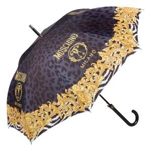 Зонт-трость Moschino 8009-63autoa Logo animalier Black фото-2