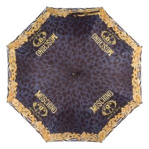 Зонт-трость Moschino 8009-63autoa Logo animalier Black фото-3