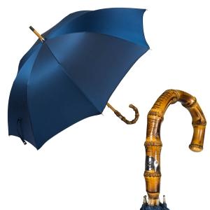 Зонт-трость Pasotti Bamboo Oxford Blu фото-1
