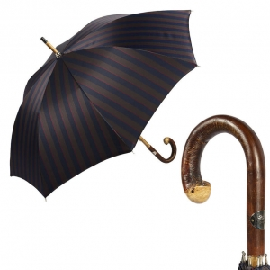 Зонт-трость Pasotti Bark Chestnut Alfred Blu фото-1