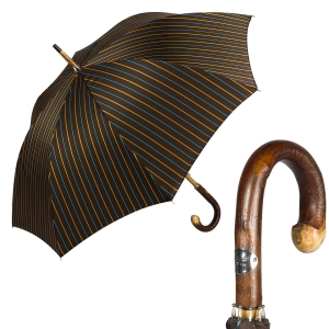 Зонт-трость Pasotti Bark Chestnut Bruce Marrone фото-1