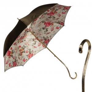 Зонт-трость Pasotti Becolore Beige Garden Oro фото-1