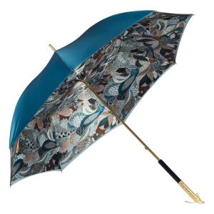 Зонт-трость Pasotti Becolore Blu Petalo Perle фото-2