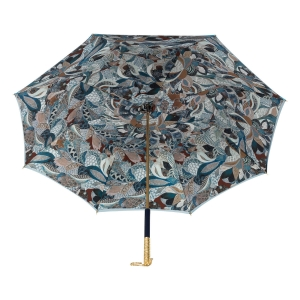 Зонт-трость Pasotti Becolore Blu Petalo Perle фото-3