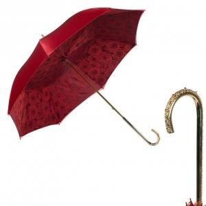 Зонт-трость Pasotti Becolore Rosso Rosa Oro Dentell фото-1