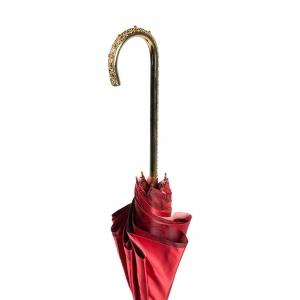 Зонт-трость Pasotti Becolore Rosso Rosa Oro Dentell фото-5