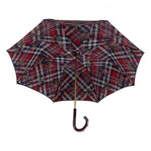 Зонт-трость Pasotti Blu Cellula Plastica Fiore фото-3