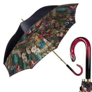 Зонт-трость Pasotti Blu Flowers Snake Plastica фото-1