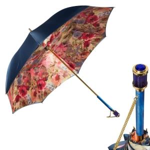 Зонт-трость Pasotti Blu Pion Vetro Blu фото-1