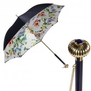 Зонт-трость Pasotti Blu Ticolori Globe фото-1