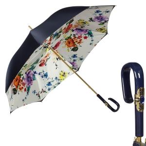 Зонт-трость Pasotti Blu Ticolori Plastica Fiore фото-1