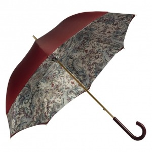 Зонт-трость Pasotti Bordo Lino Classic Pelle фото-2