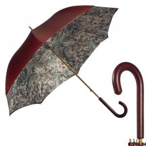 Зонт-трость Pasotti Bordo Lino Classic Pelle фото-1