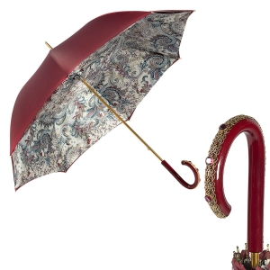 Зонт-трость Pasotti Bordo Lino Plastica Fiore фото-1