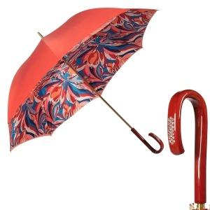 Зонт-трость Pasotti Coral Lumino Rosso Strass фото-1