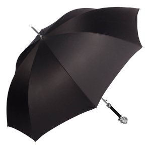 Зонт-трость Pasotti Devil Silver Oxford Black фото-2