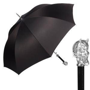 Зонт-трость Pasotti Devil Silver Oxford Black фото-1