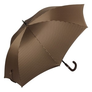 Зонт-трость Pasotti Esperto Classic Pelle Atene Marrone фото-2