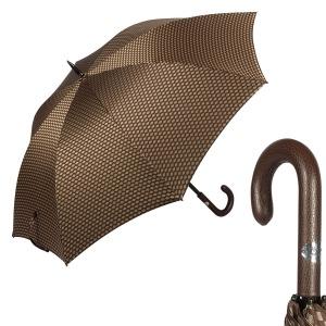 Зонт-трость Pasotti Esperto Classic Pelle Atene Marrone фото-1