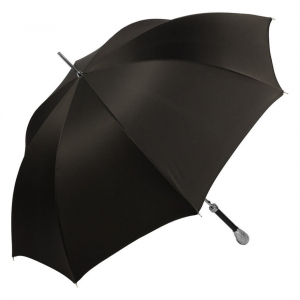 Зонт-трость Pasotti Falcon Silver Oxford Black фото-2