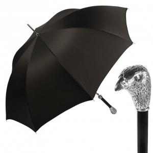 Зонт-трость Pasotti Falcon Silver Oxford Black фото-1