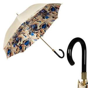 Зонт-трость Pasotti Ivory Lis Bianko Picco Chic фото-1