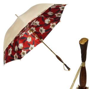 Зонт-трость Pasotti Ivory Lis Rosso Albena Swar фото-1