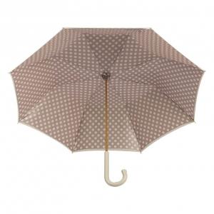 Зонт-трость Pasotti Ivory Pois Classic Pelle фото-3