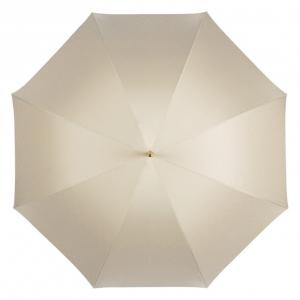 Зонт-трость Pasotti Ivory Pois Classic Pelle фото-4