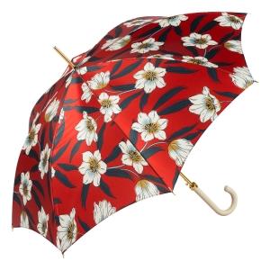 Зонт-трость Pasotti Lis Rosso Classic Pelle фото-2