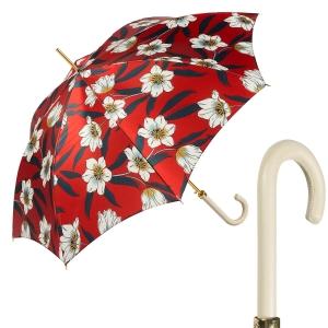 Зонт-трость Pasotti Lis Rosso Classic Pelle фото-1