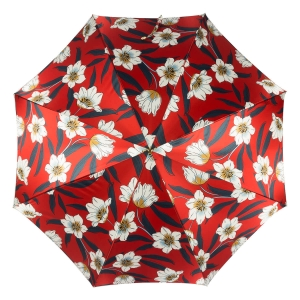 Зонт-трость Pasotti Lis Rosso Classic Pelle фото-3
