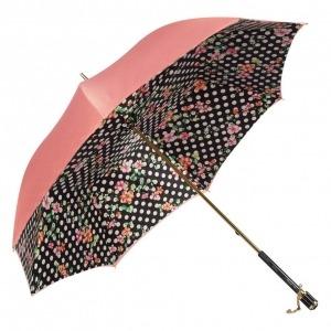 Зонт-трость Pasotti Magenta Flower Pois Vetro фото-2