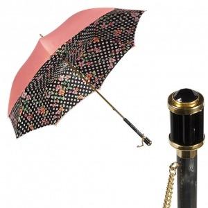 Зонт-трость Pasotti Magenta Flower Pois Vetro фото-1