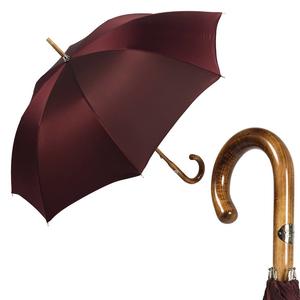 Зонт-трость Pasotti Maple Oxford Bordo фото-1