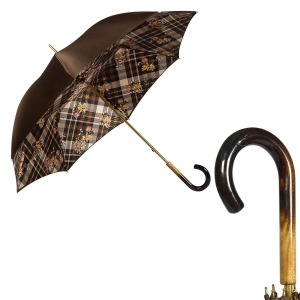 Зонт-трость Pasotti Marrone Cellula Legno фото-1