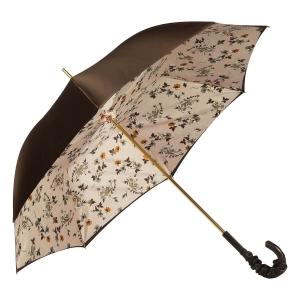 Зонт-трость Pasotti Marrone Milla Beige Pelle фото-2