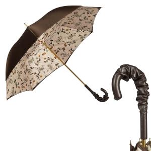 Зонт-трость Pasotti Marrone Milla Beige Pelle фото-1