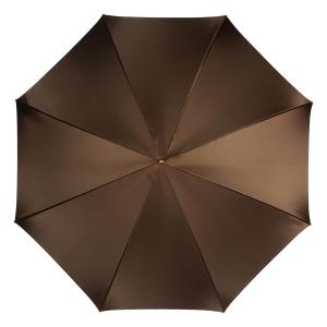 Зонт-трость Pasotti Marrone Milla Beige Pelle фото-4