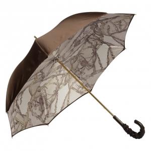 Зонт-трость Pasotti Marrone Rig Pelle фото-2