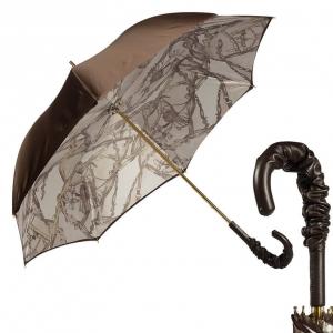 Зонт-трость Pasotti Marrone Rig Pelle фото-1