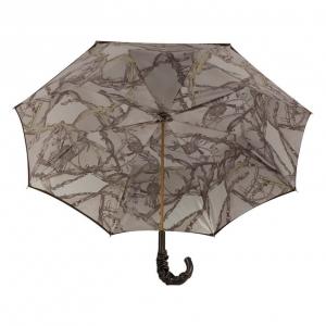 Зонт-трость Pasotti Marrone Rig Pelle фото-3
