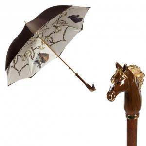 Зонт-трость Pasotti Morrone Horses Lux фото-1